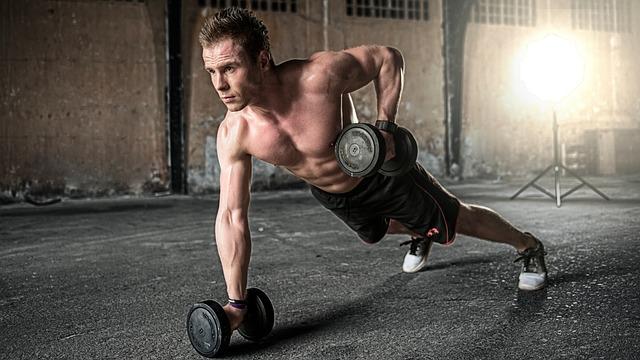 muž při cvičení