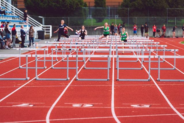 stadion a běžkyně