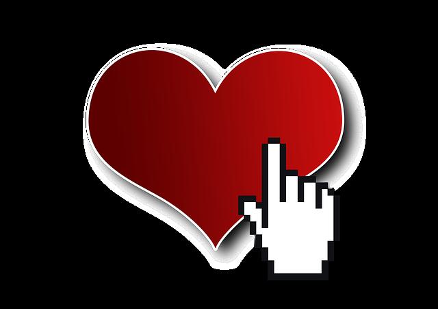 kliknutí na srdce